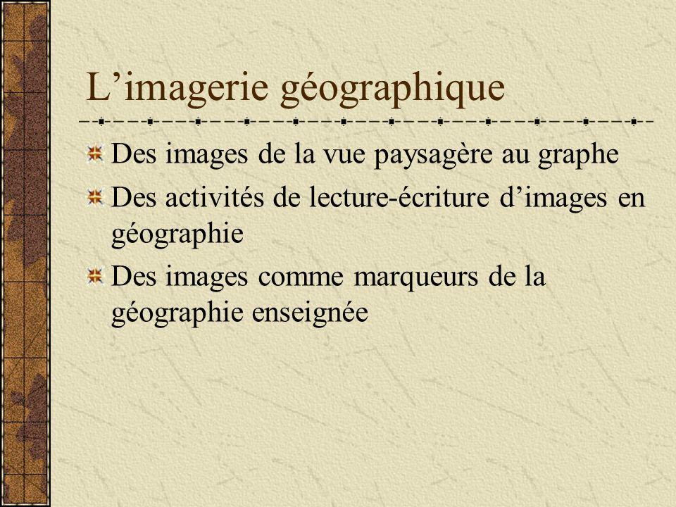 Limagerie géographique Des images de la vue paysagère au graphe Des activités de lecture-écriture dimages en géographie Des images comme marqueurs de la géographie enseignée