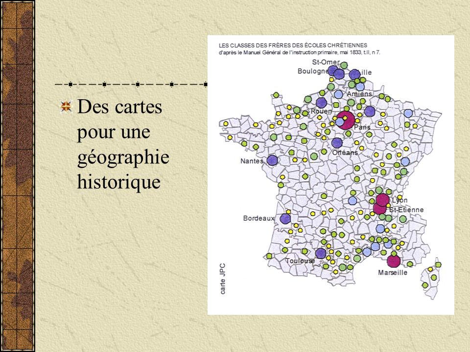 Des cartes pour une géographie historique