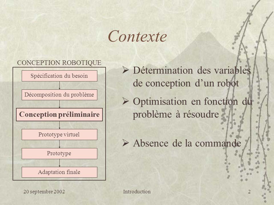 20 septembre 2002Génération de consignes : suivi simple23 Résultats de simulation