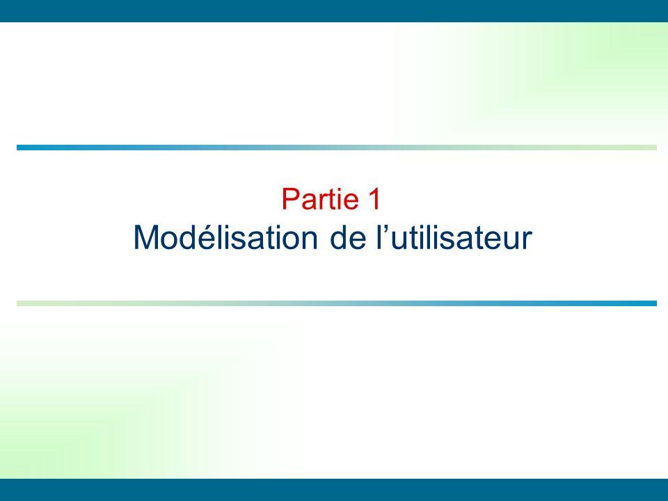Partie 1 Modélisation de lutilisateur