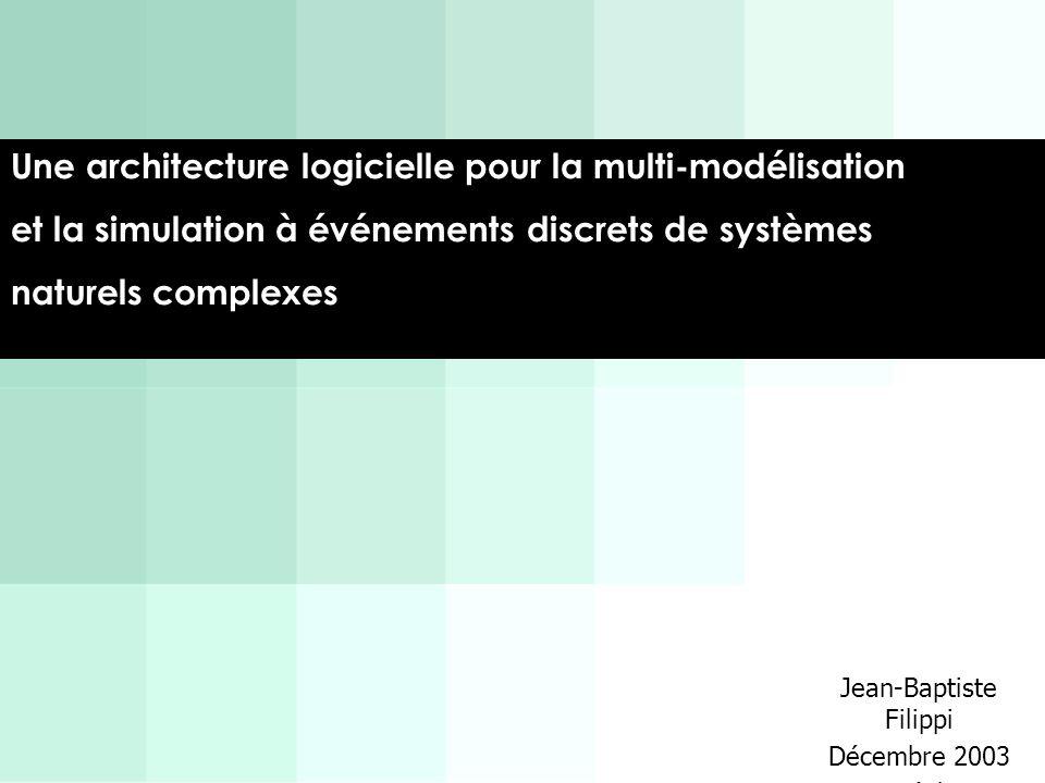 Une architecture logicielle pour la multi-modélisation et la simulation à événements discrets de systèmes naturels complexes Jean-Baptiste Filippi Déc