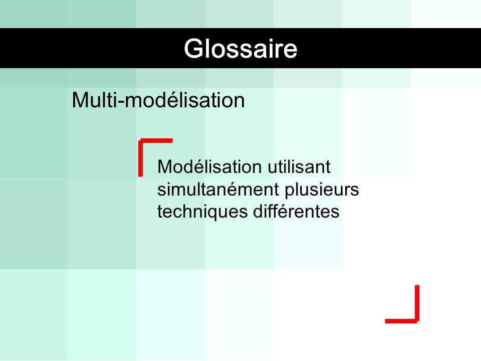 Multi-modélisation Modélisation utilisant simultanément plusieurs techniques différentes