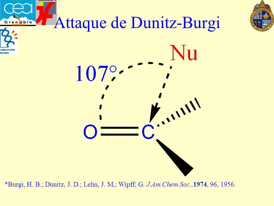 Attaque de Dunitz-Burgi *Burgi, H.B.; Dunitz, J. D.; Lehn, J.
