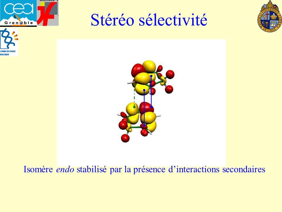 Stéréo sélectivité Isomère endo stabilisé par la présence dinteractions secondaires