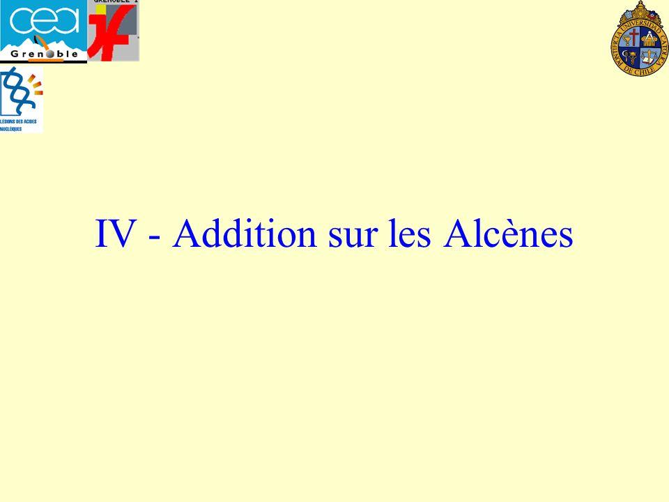 IV - Addition sur les Alcènes