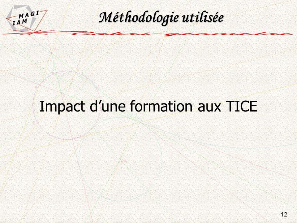 Impact dune formation aux TICE Méthodologie utilisée 12