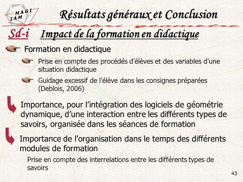 Prise en compte des procédés délèves et des variables dune situation didactique Formation en didactique Guidage excessif de lélève dans les consignes