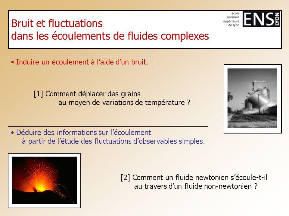 [2] Comment un fluide newtonien sécoule-t-il au travers dun fluide non-newtonien ? [1] Comment déplacer des grains au moyen de variations de températu