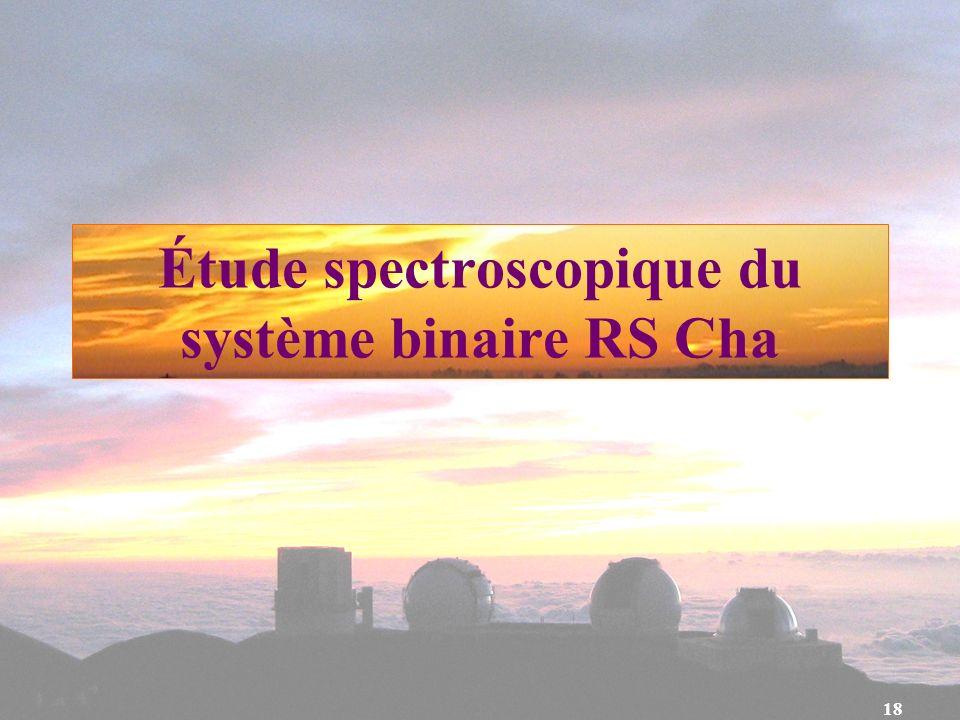 18 Étude spectroscopique du système binaire RS Cha