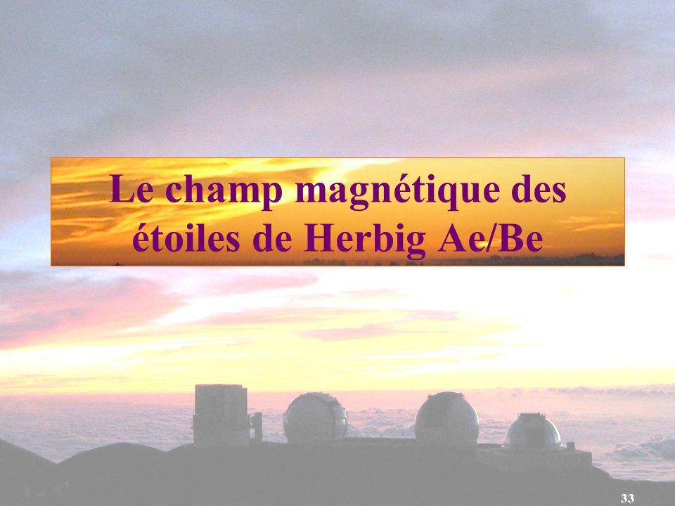 33 Le champ magnétique des étoiles de Herbig Ae/Be
