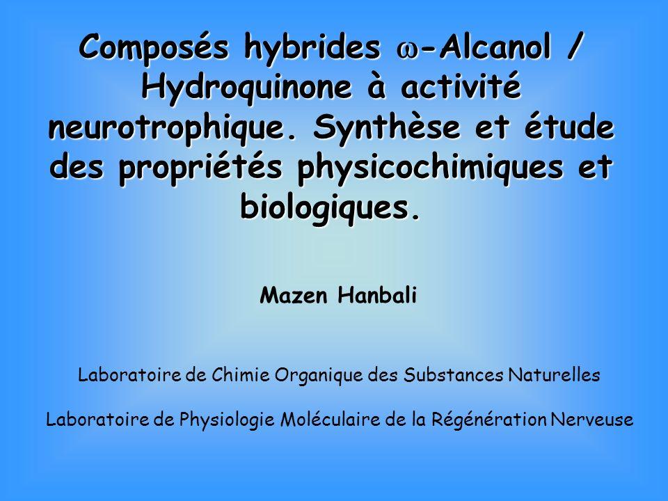 Neurorégénération Composé lipidique neurotrophique n-hexacosanol Origine : Hygrophila erecta Cicatrisation cutanée Propriétés neurorégénératives Longueur chaîne + fonction alcool