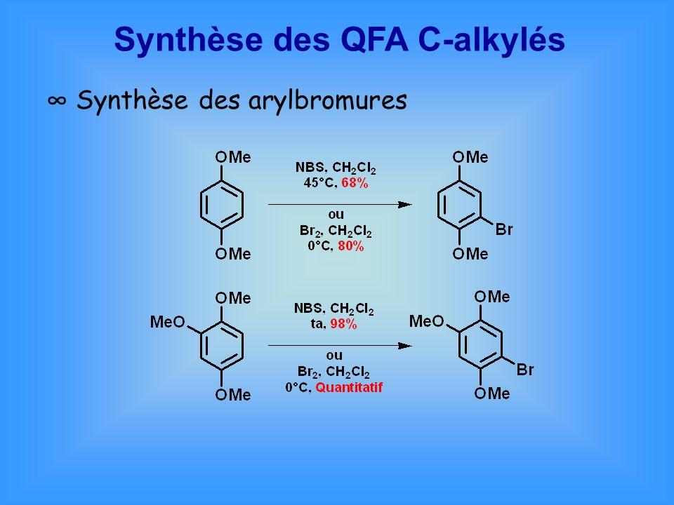 Synthèse des QFA C-alkylés Synthèse des arylbromures
