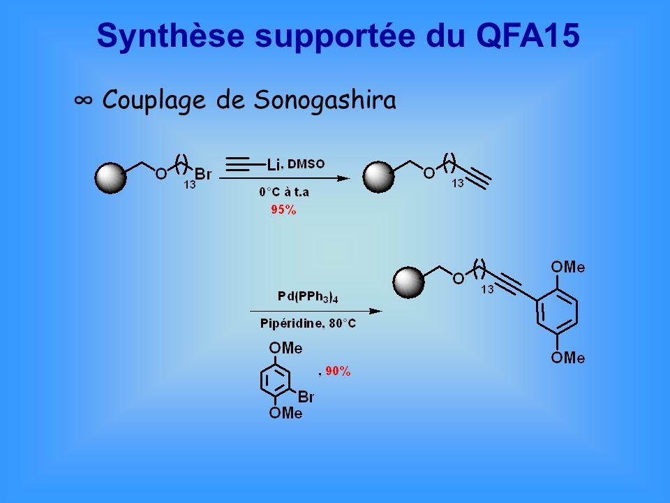 Synthèse supportée du QFA15 Couplage de Sonogashira