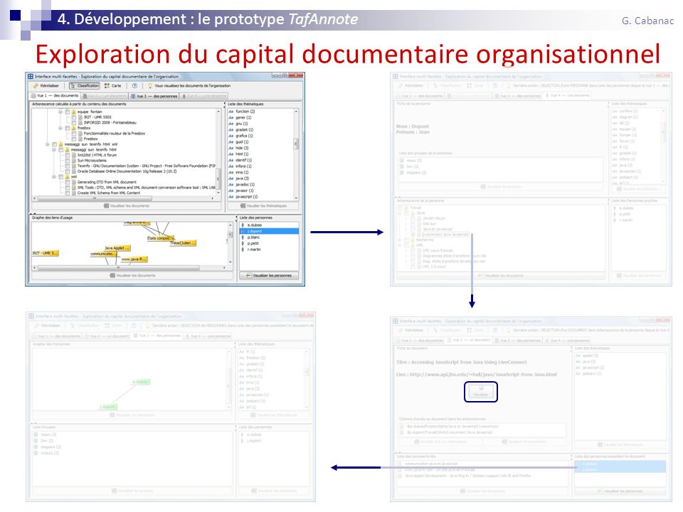 45 Exploration du capital documentaire organisationnel 4. Développement : le prototype TafAnnote G. Cabanac