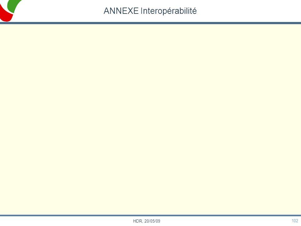 102 HDR, 20/05/09 ANNEXE Interopérabilité