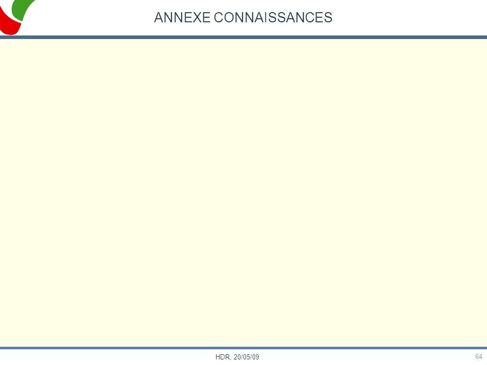 64 HDR, 20/05/09 ANNEXE CONNAISSANCES