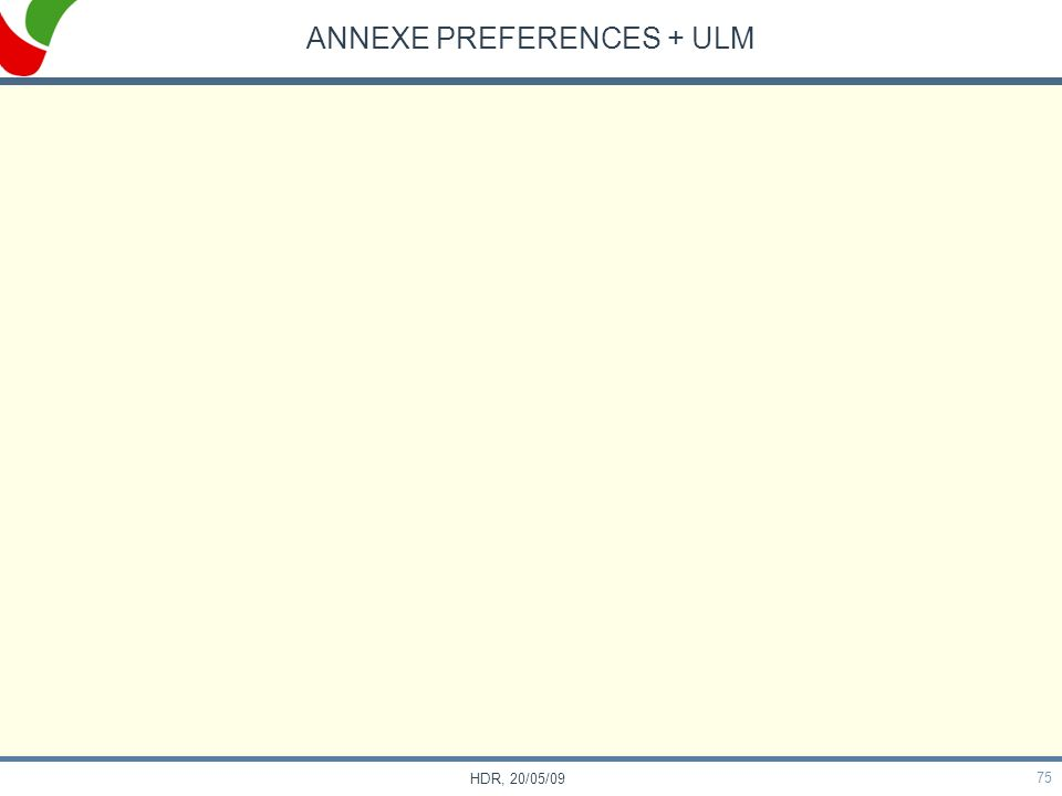 75 HDR, 20/05/09 ANNEXE PREFERENCES + ULM