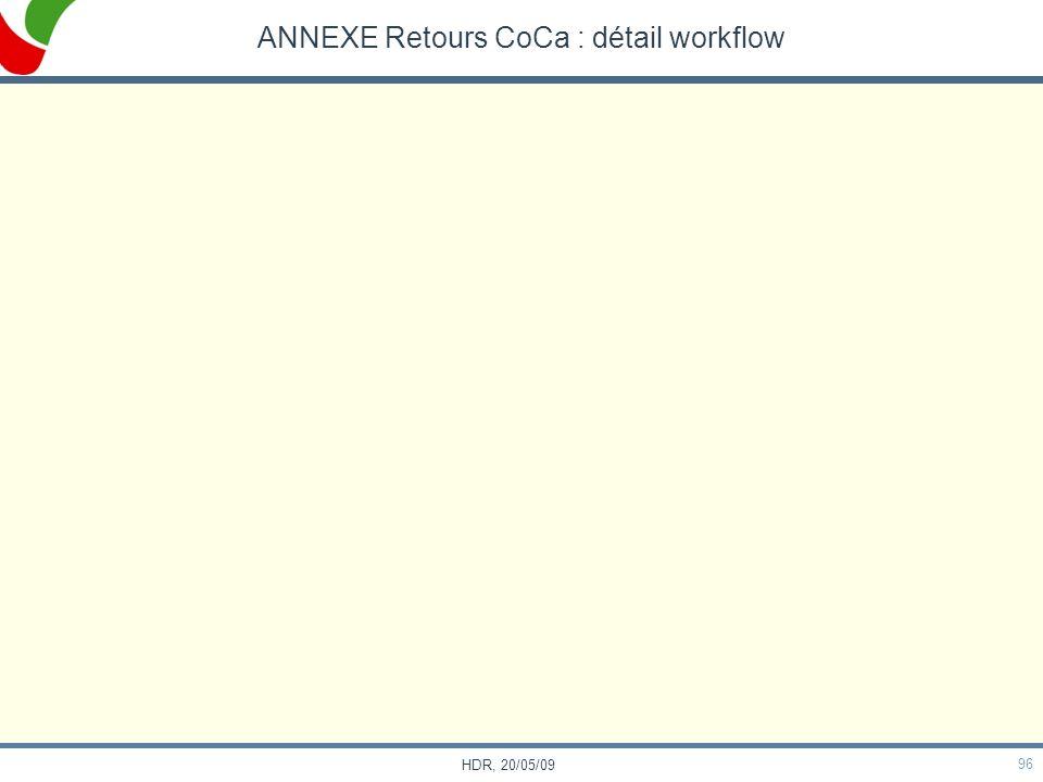 96 HDR, 20/05/09 ANNEXE Retours CoCa : détail workflow