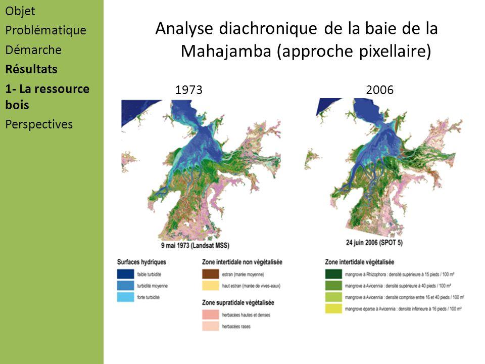 Analyse diachronique de la baie de la Mahajamba (approche pixellaire) Objet Problématique Démarche Résultats 1- La ressource bois Perspectives 1973200