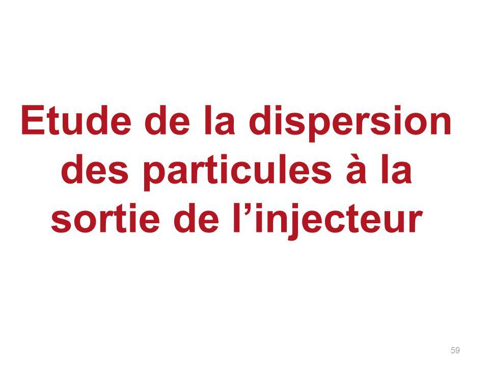 Etude de la dispersion des particules à la sortie de linjecteur 59