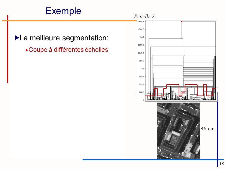 15 45 cm Exemple La meilleure segmentation: Coupe à différentes échelles