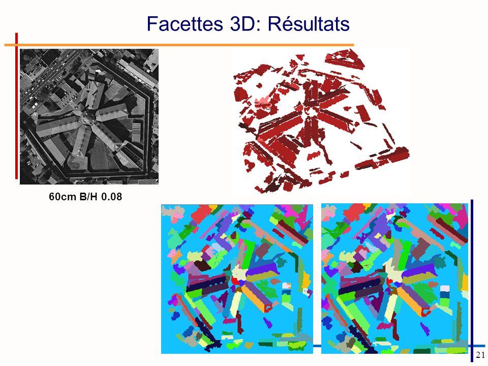 21 60cm B/H 0.08 Facettes 3D: Résultats