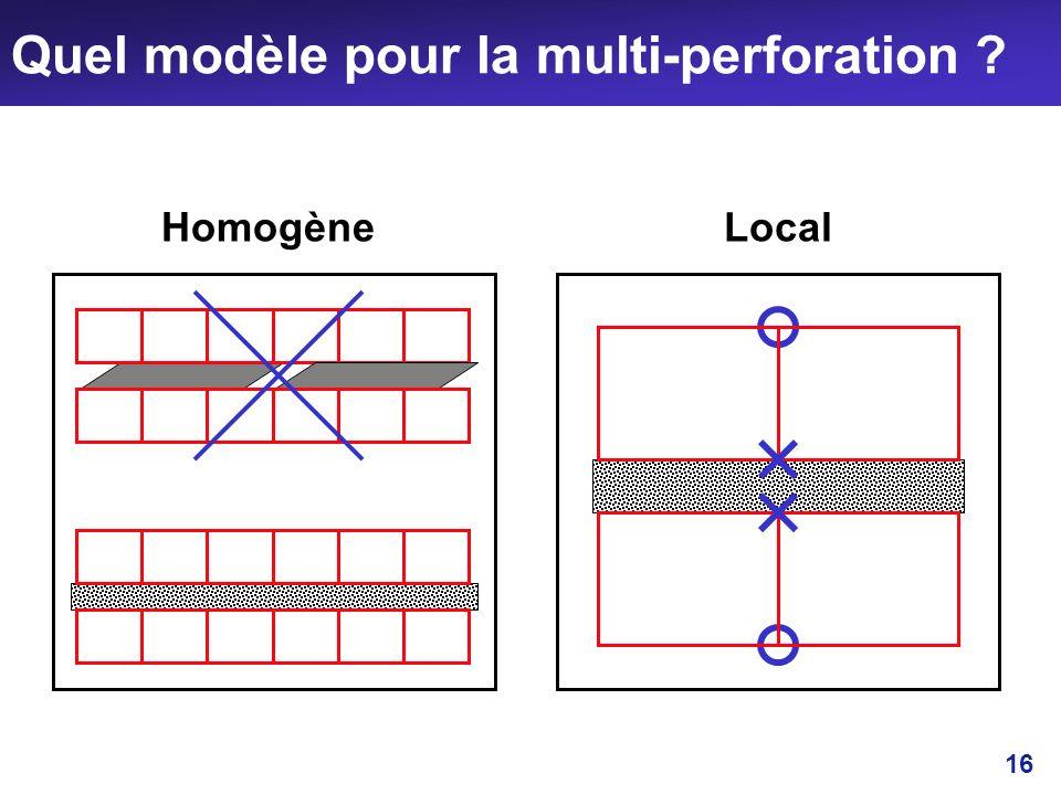 16 Quel modèle pour la multi-perforation ? HomogèneLocal