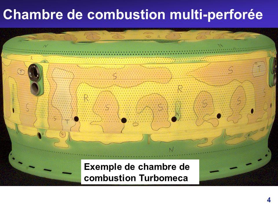 4 Chambre de combustion multi-perforée Exemple de chambre de combustion Turbomeca