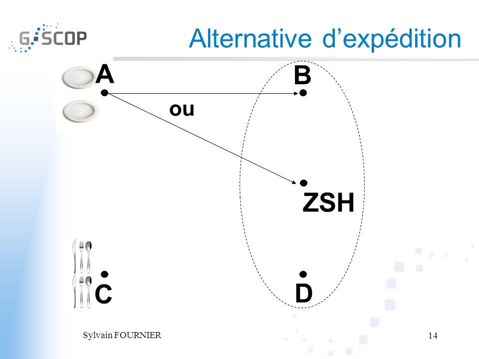 Sylvain FOURNIER 14 A B C D Alternative dexpédition ZSH ou