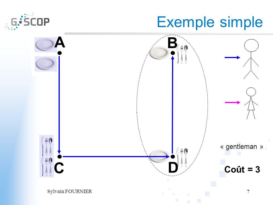 Sylvain FOURNIER 7 Exemple simple A B C D Coût = 3 « gentleman »