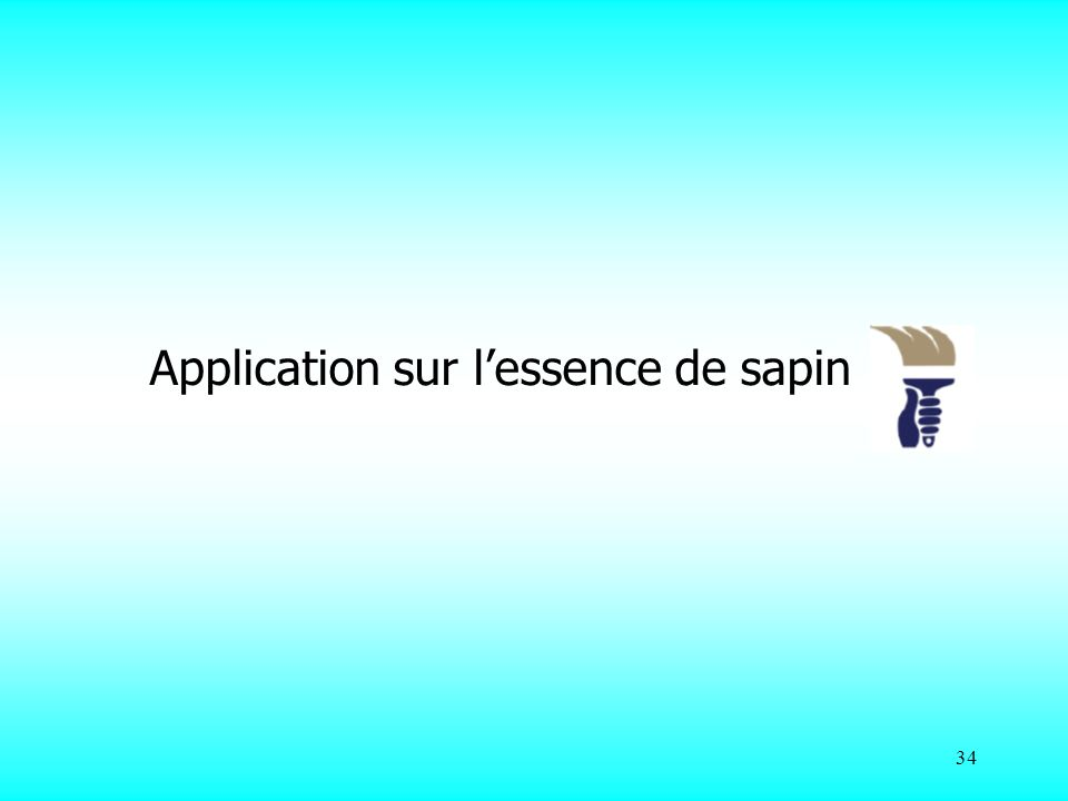 34 Application sur lessence de sapin