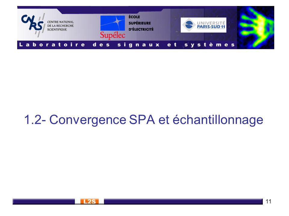 11 1.2- Convergence SPA et échantillonnage