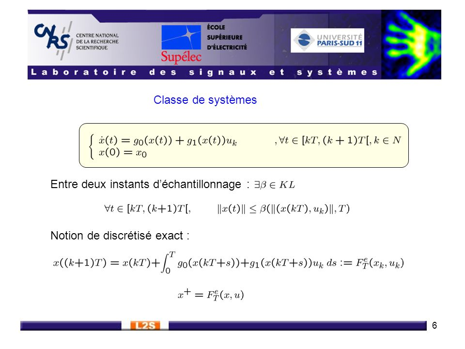 7 Types de convergences étudiées Définition : (Stabilité Semi-globale, Pratique et Asymptotique (SPA)) Caractérisation : Définition : (Stabilité Globale Asymptotique (GAS))
