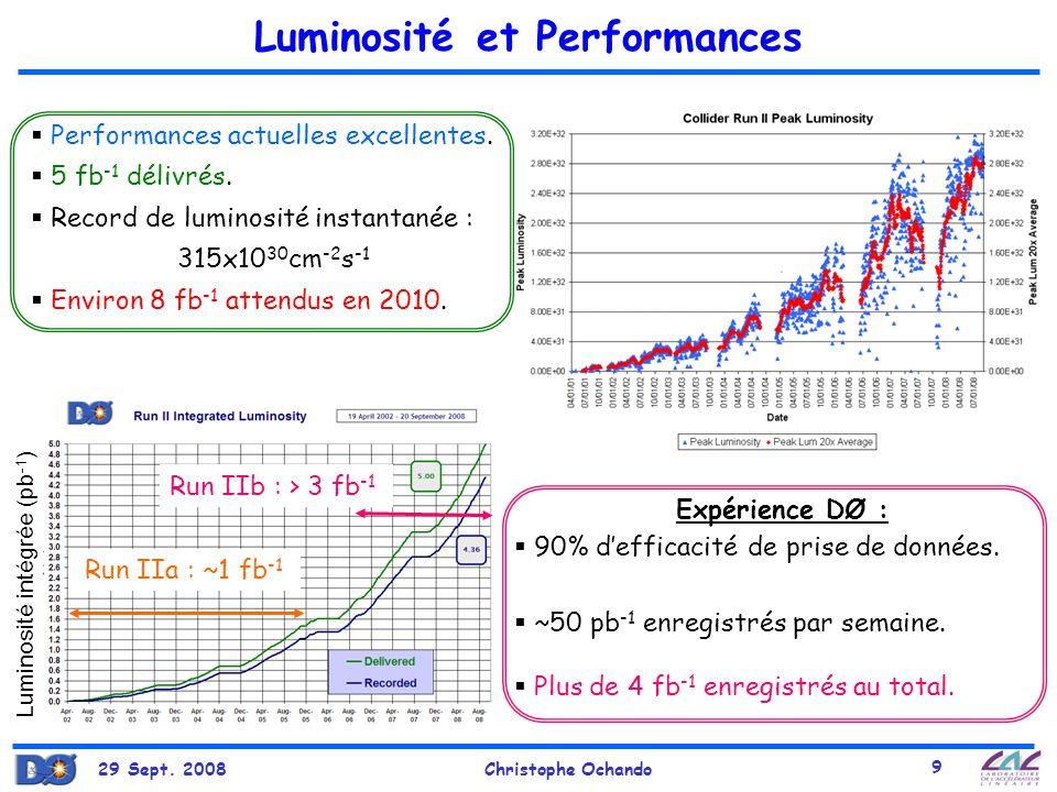 29 Sept.2008Christophe Ochando 10 Calorimètre à échantillonnage: milieu actif : LAr.