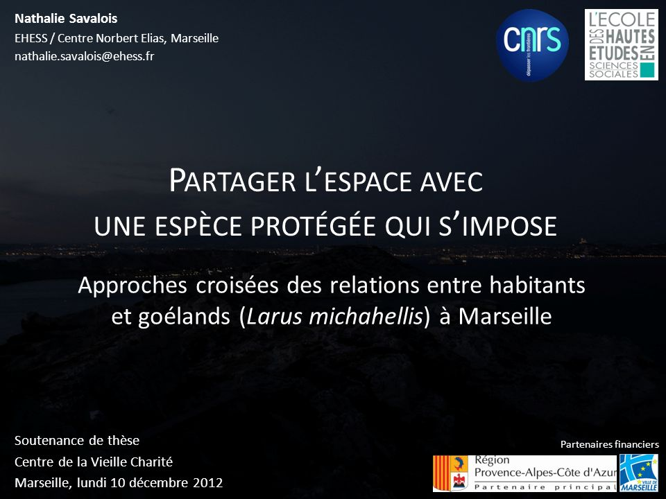 Soutenance de thèse Centre de la Vieille Charité Marseille, lundi 10 décembre 2012 Nathalie Savalois EHESS / Centre Norbert Elias, Marseille nathalie.