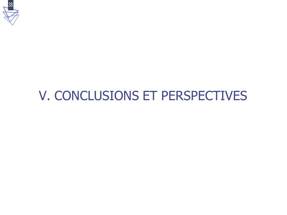 V. CONCLUSIONS ET PERSPECTIVES