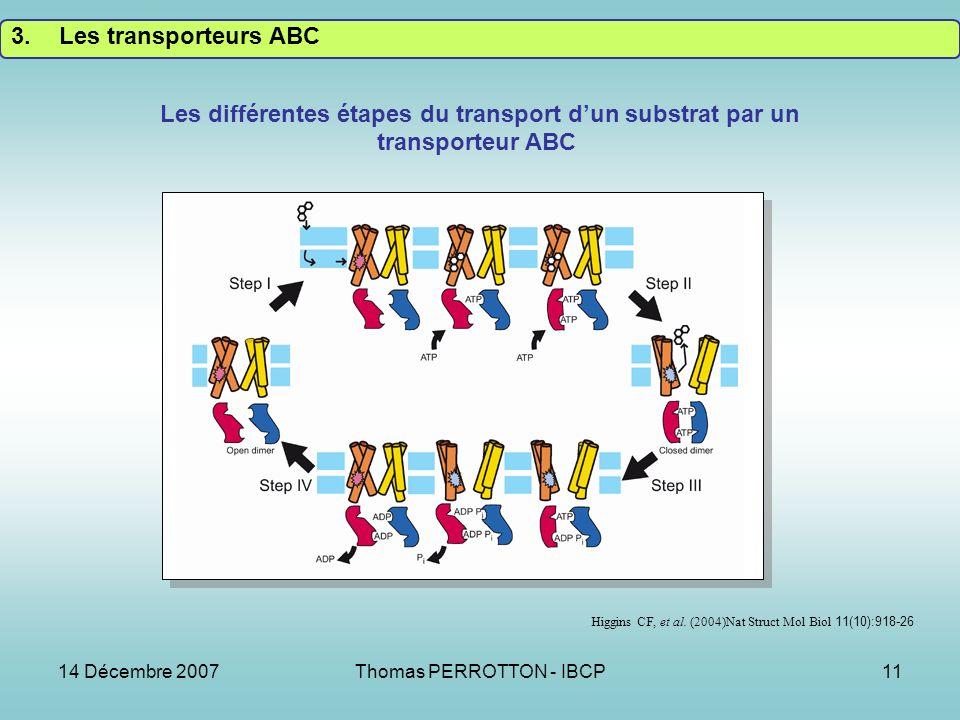 14 Décembre 2007Thomas PERROTTON - IBCP11 Higgins CF, et al.