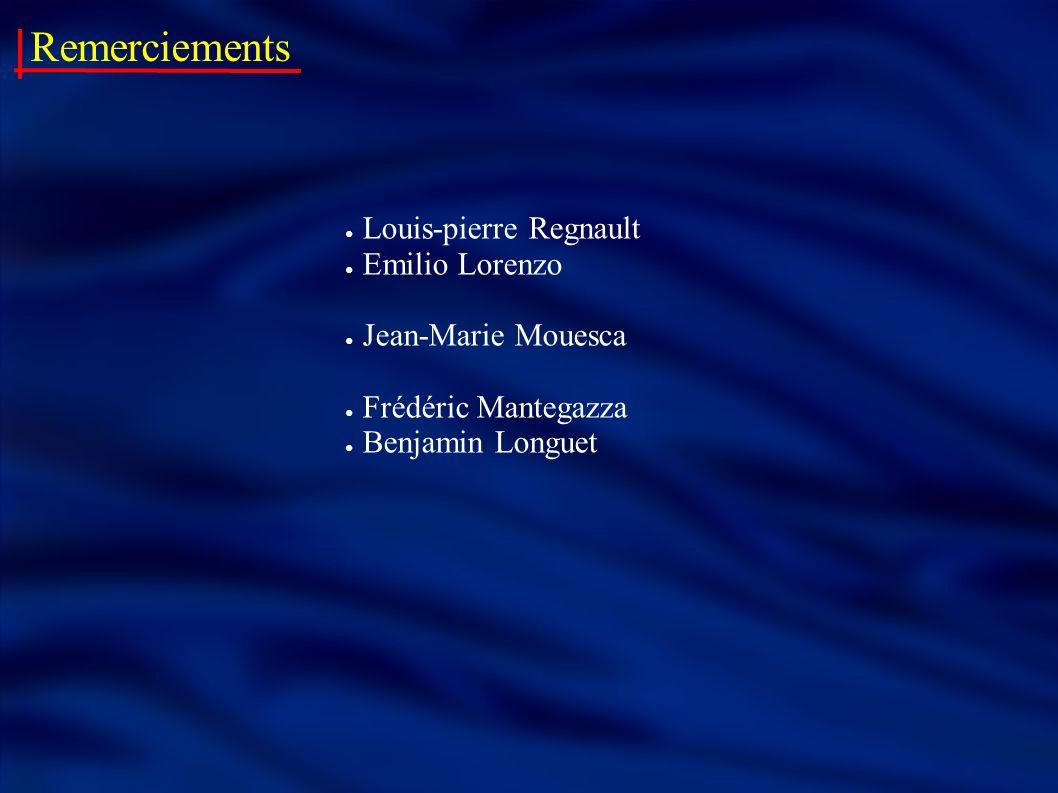 Remerciements Louis-pierre Regnault Emilio Lorenzo Jean-Marie Mouesca Frédéric Mantegazza Benjamin Longuet