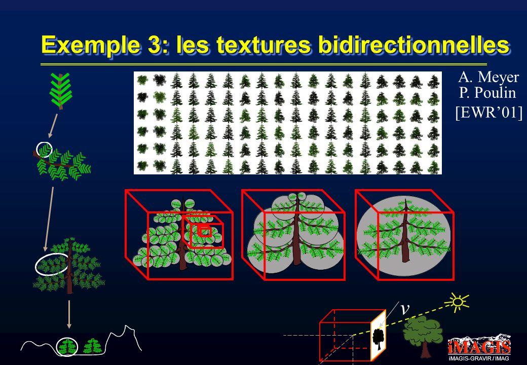 Exemple 3: les textures bidirectionnelles v A. Meyer P. Poulin [EWR01]