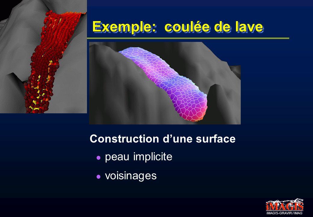 iMAGIS-GRAVIR / IMAG Exemple: coulée de lave Construction dune surface peau implicite voisinages