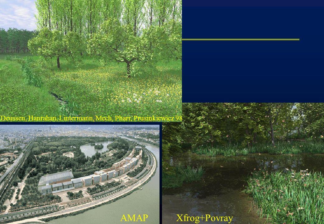 iMAGIS-GRAVIR / IMAG Xfrog+PovrayAMAP Deussen, Hanrahan, Lintermann, Mech, Pharr, Prusinkiewicz 98