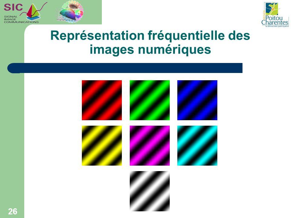 Représentation fréquentielle des images numériques 26