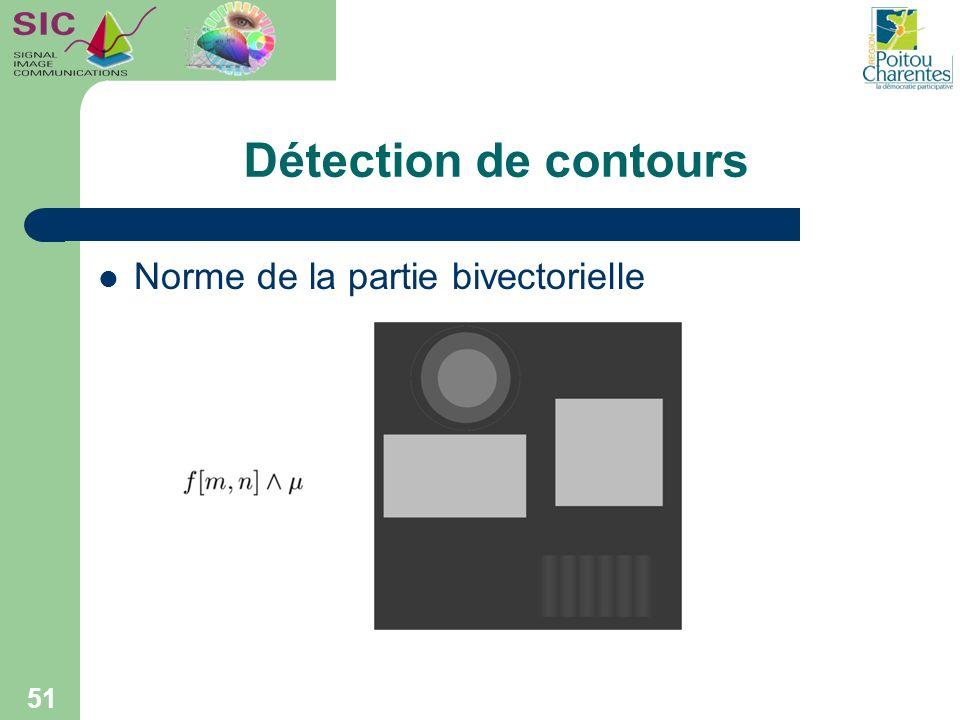 Détection de contours Norme de la partie bivectorielle 51