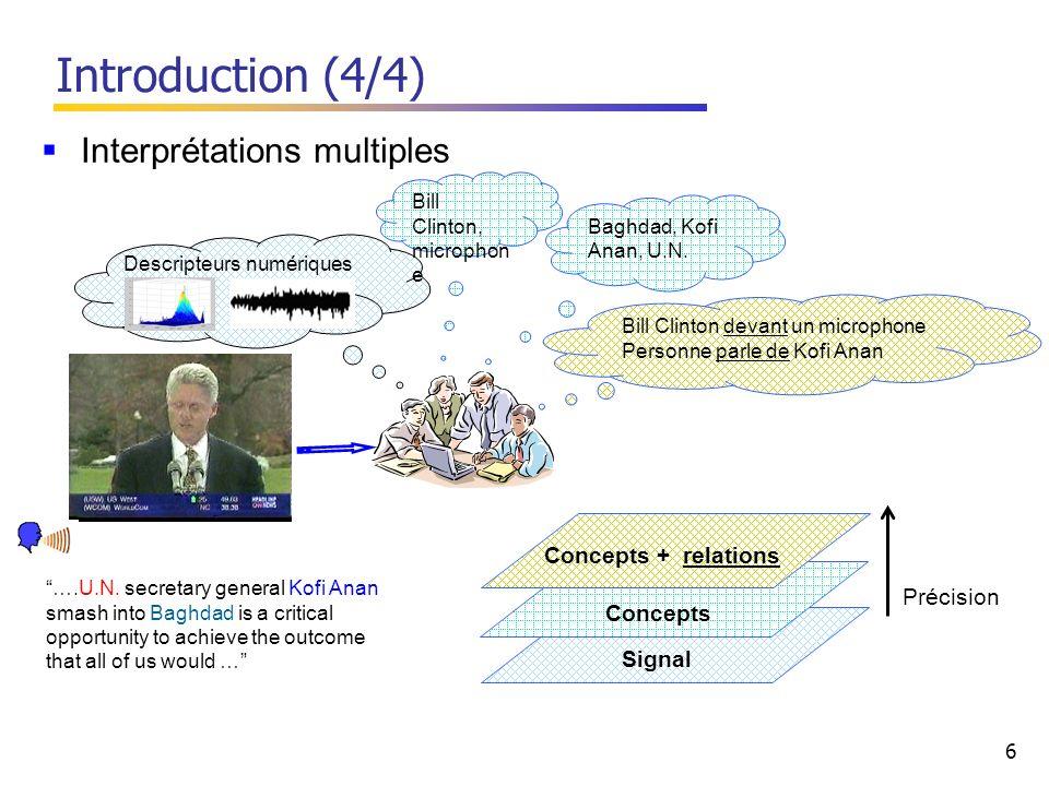 6 Signal Descripteurs numériques Bill Clinton, microphon e Baghdad, Kofi Anan, U.N.