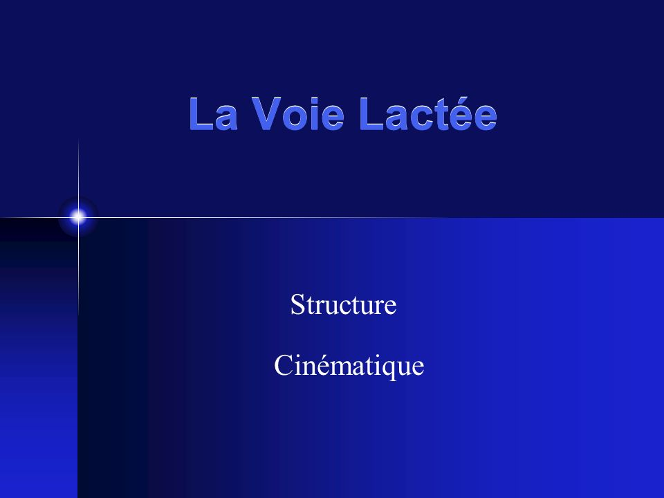 Structure Cinématique