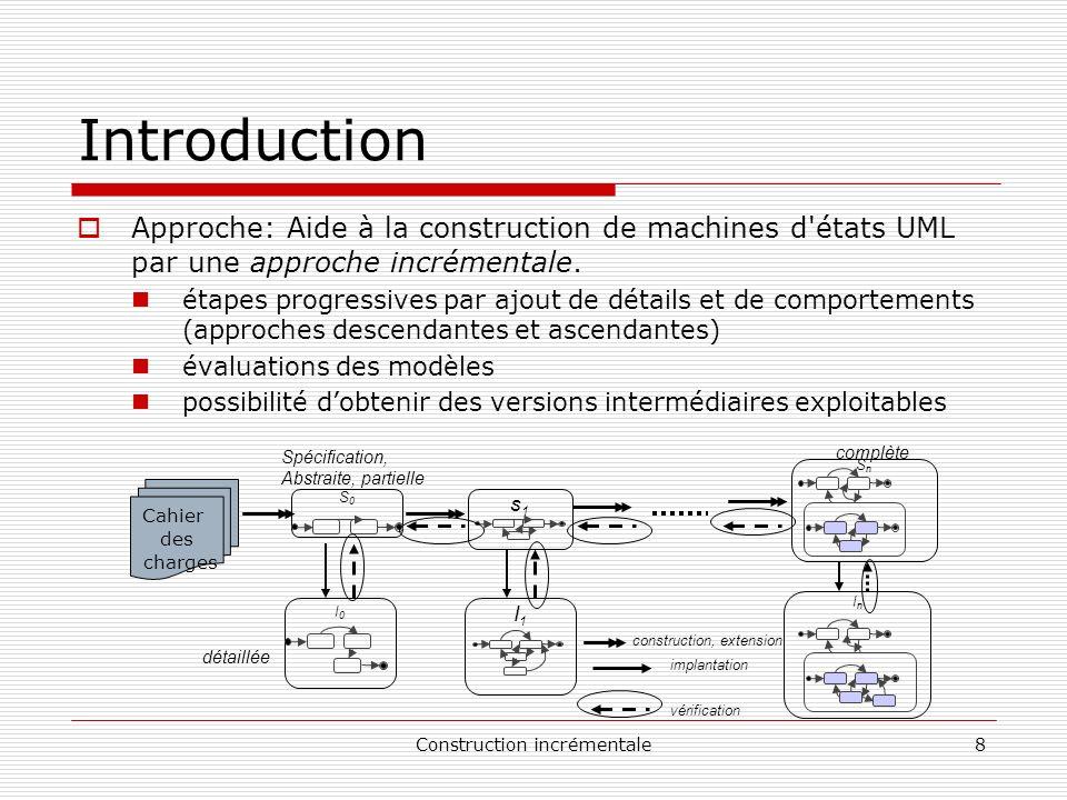 Construction incrémentale9 Introduction Notre approche: évaluer les modèles par comparaison.