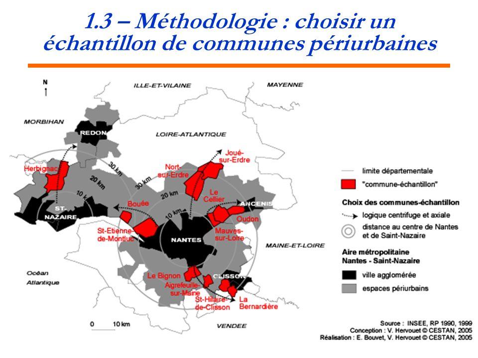 1.3 – Méthodologie : choisir un échantillon de communes périurbaines