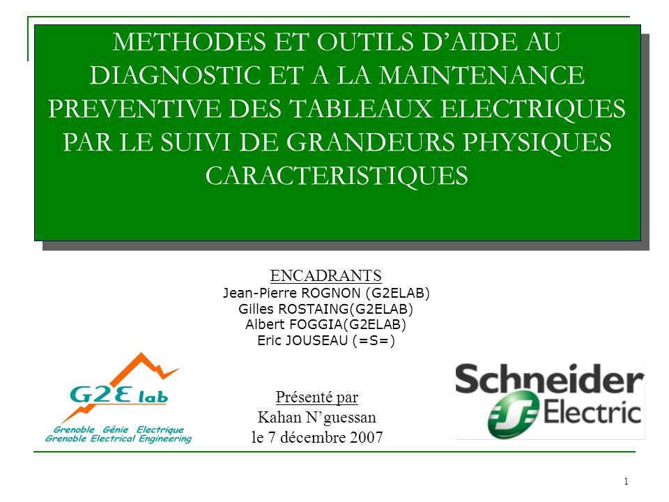 Thèse de doctorat: Aide à la maintenance préventive des tableaux électriques Kahan NGUESSAN 12/42 12 1.