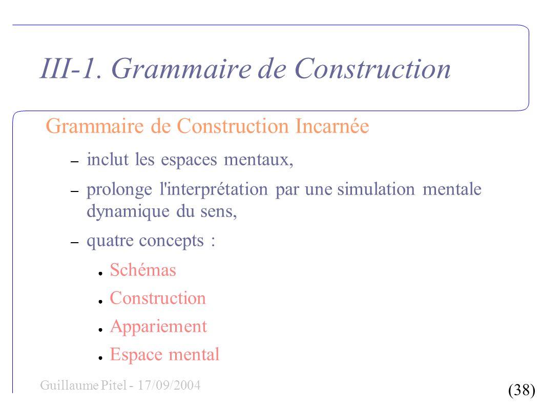 (38) Guillaume Pitel - 17/09/2004 III-1.