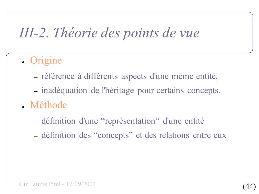 (44) Guillaume Pitel - 17/09/2004 III-2.